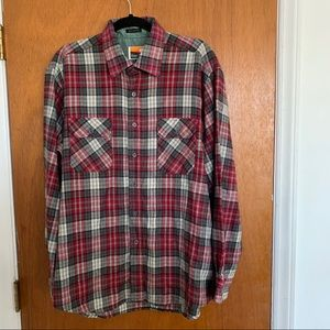 Ozart Trail Red Flannel Button Front XL Shirt